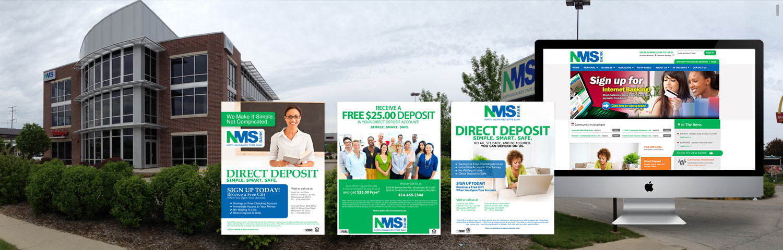 nmsbank milwaukee web design graphic-design