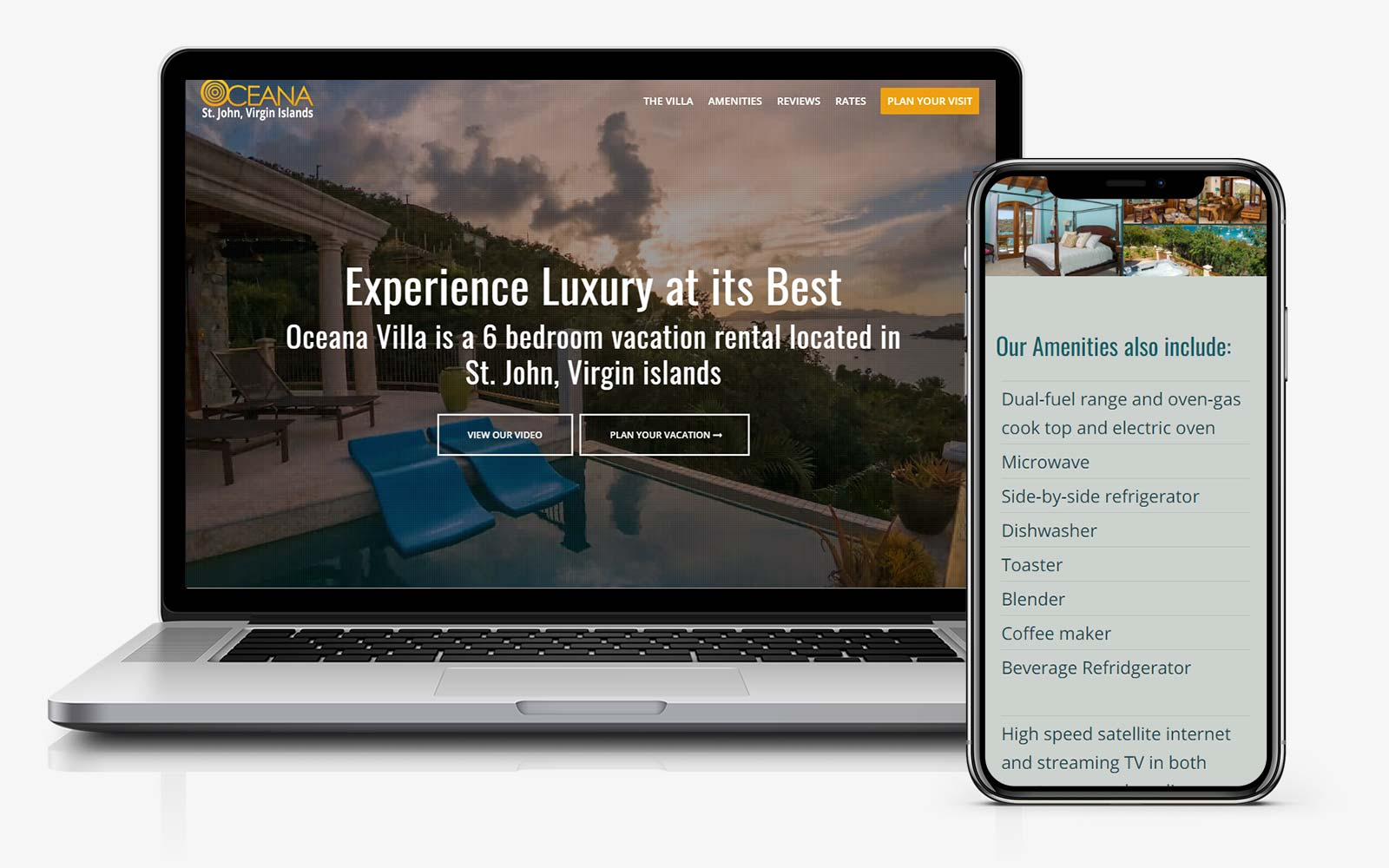 web design vacation villa caribbean