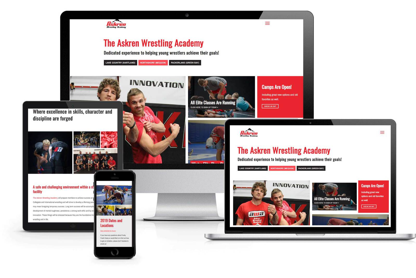website design sports wrestling