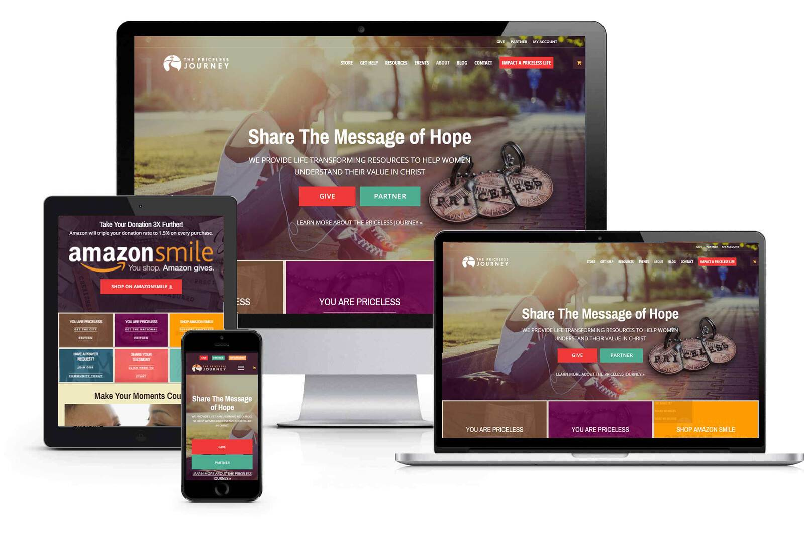 responsive design ministry website