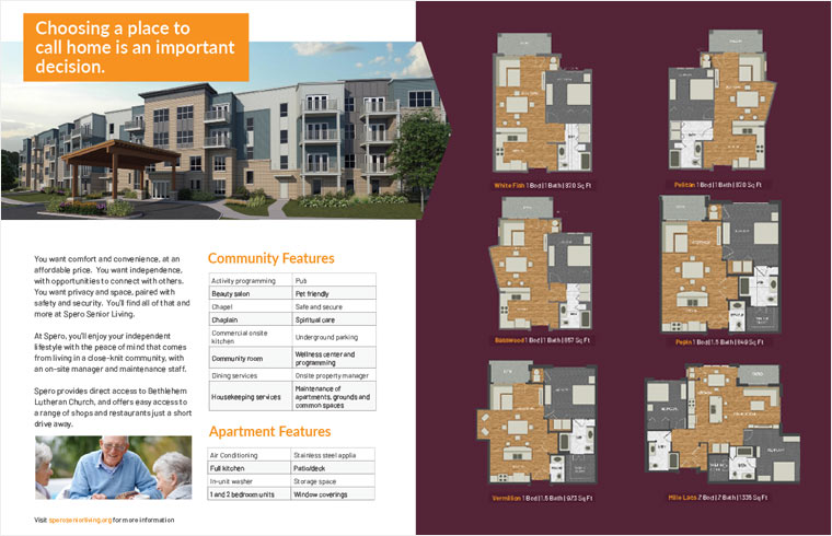 spero senior living minnesota brochure