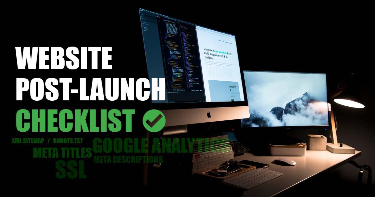 post website launch checklist