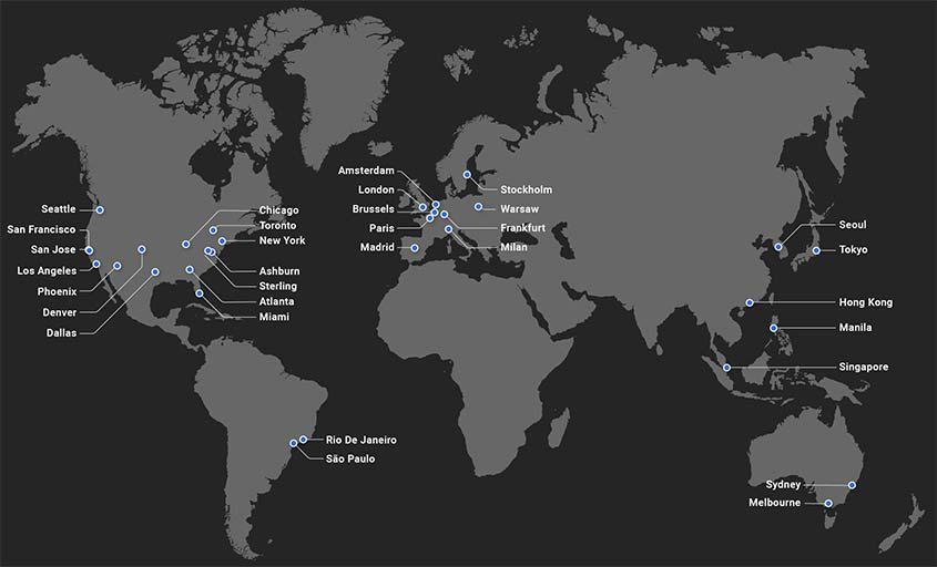 cdn network data centers