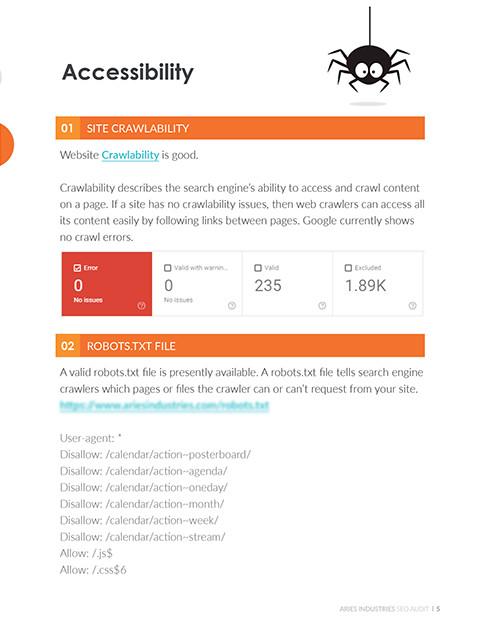 site-crawlability accessibility seo audit