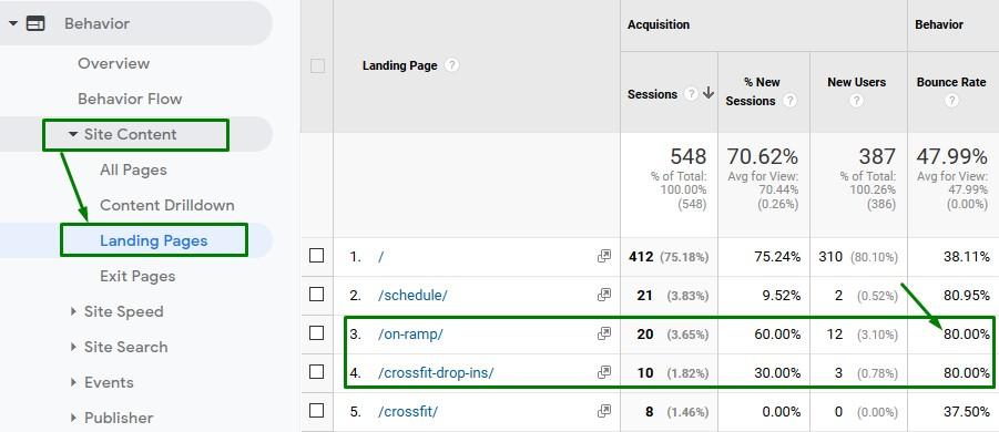 analyze website with google