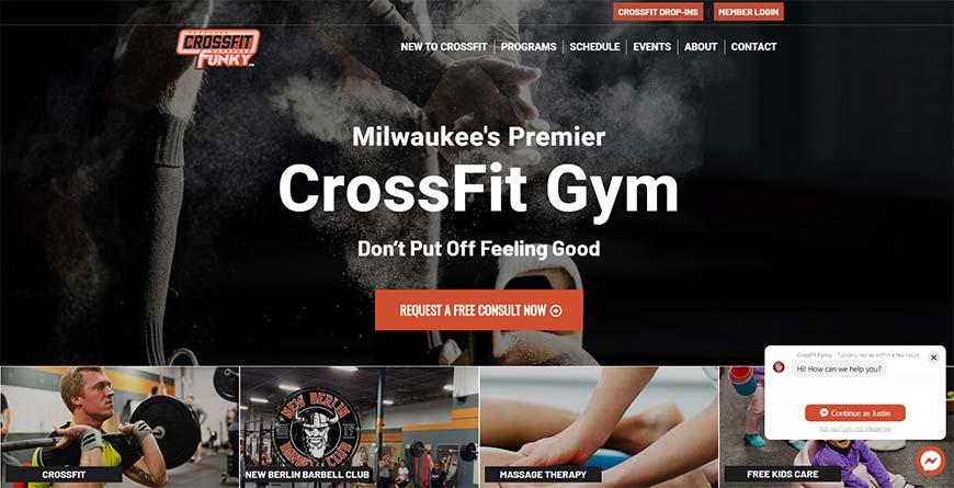 custom web design for gym