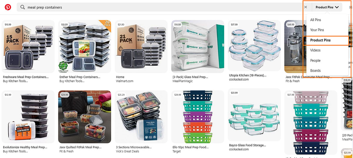 product shopping pinterest