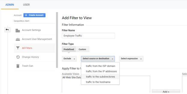 filter traffic analytics