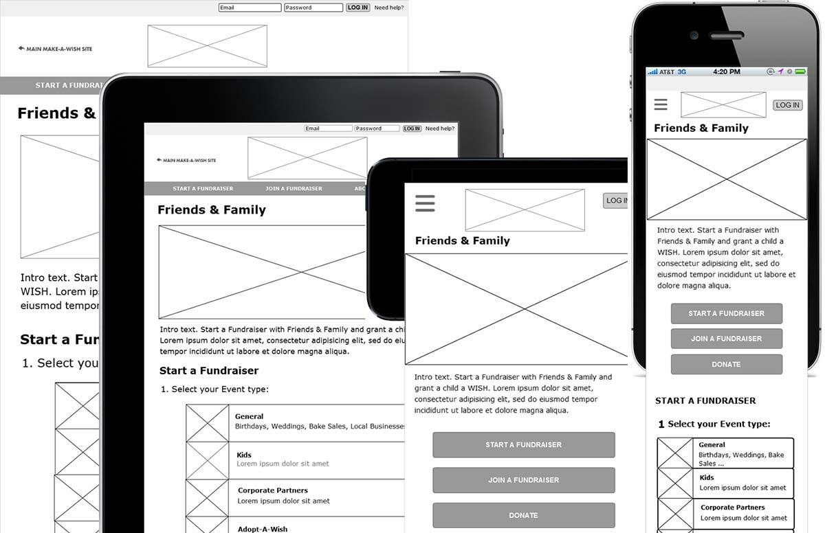 create website wireframe