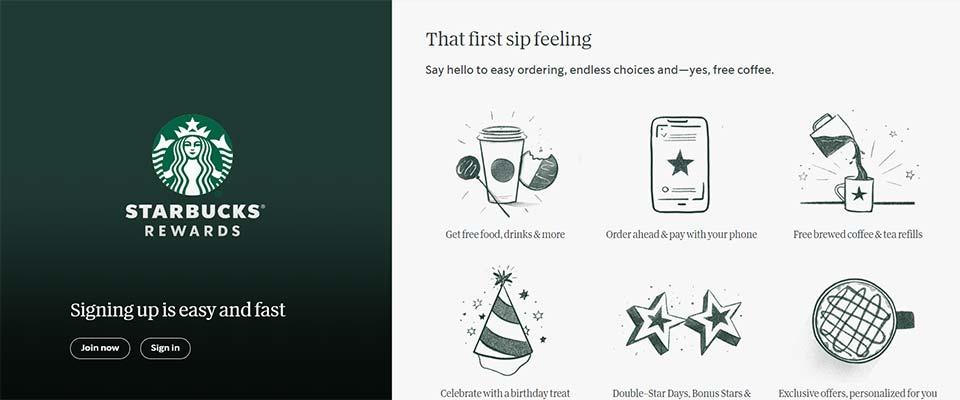 starbucks web design illustrations