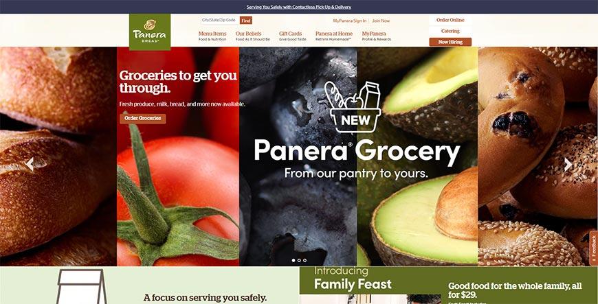panera bread grocery order online
