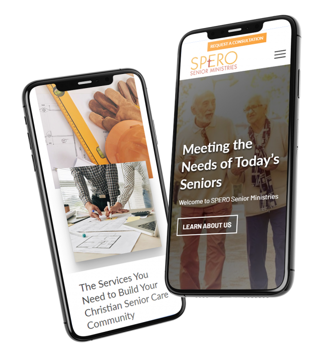 spero ministries mobile website