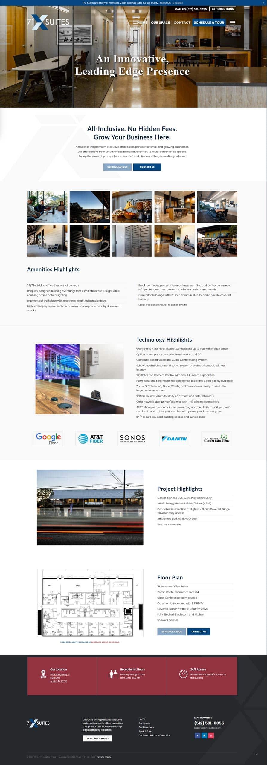 71xsuites desktop web design