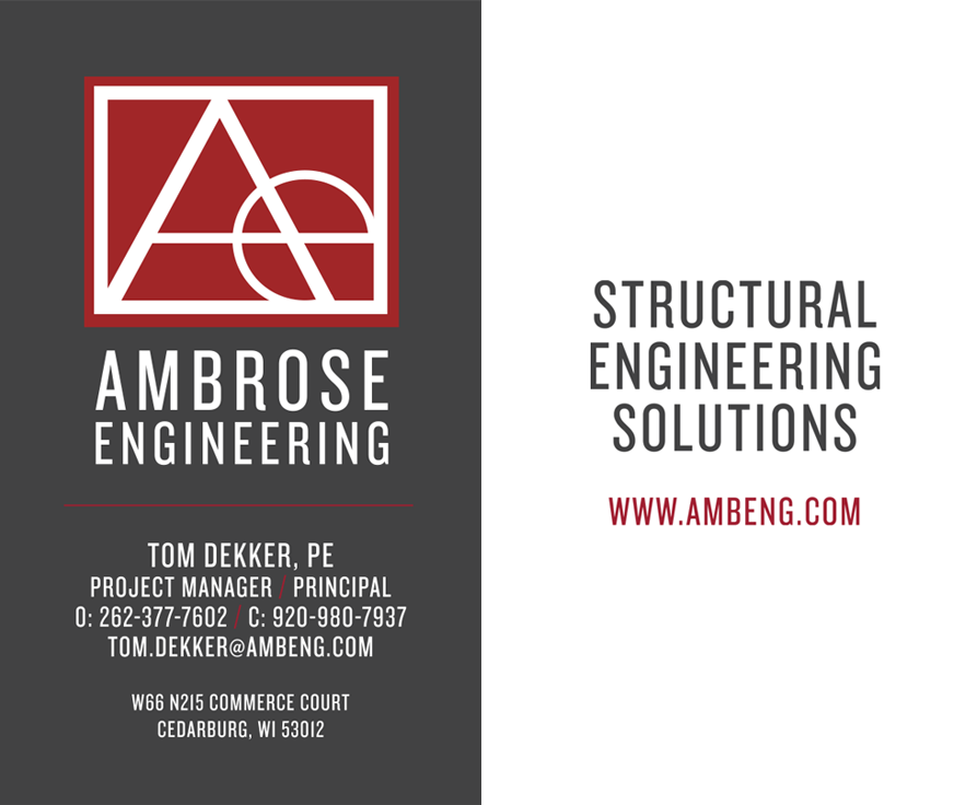 ambrose engineering business cards