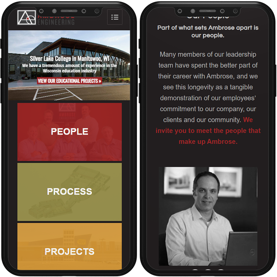 ambrose engineering mobile site