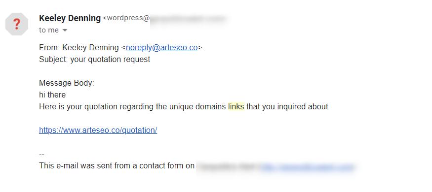 identify link spam