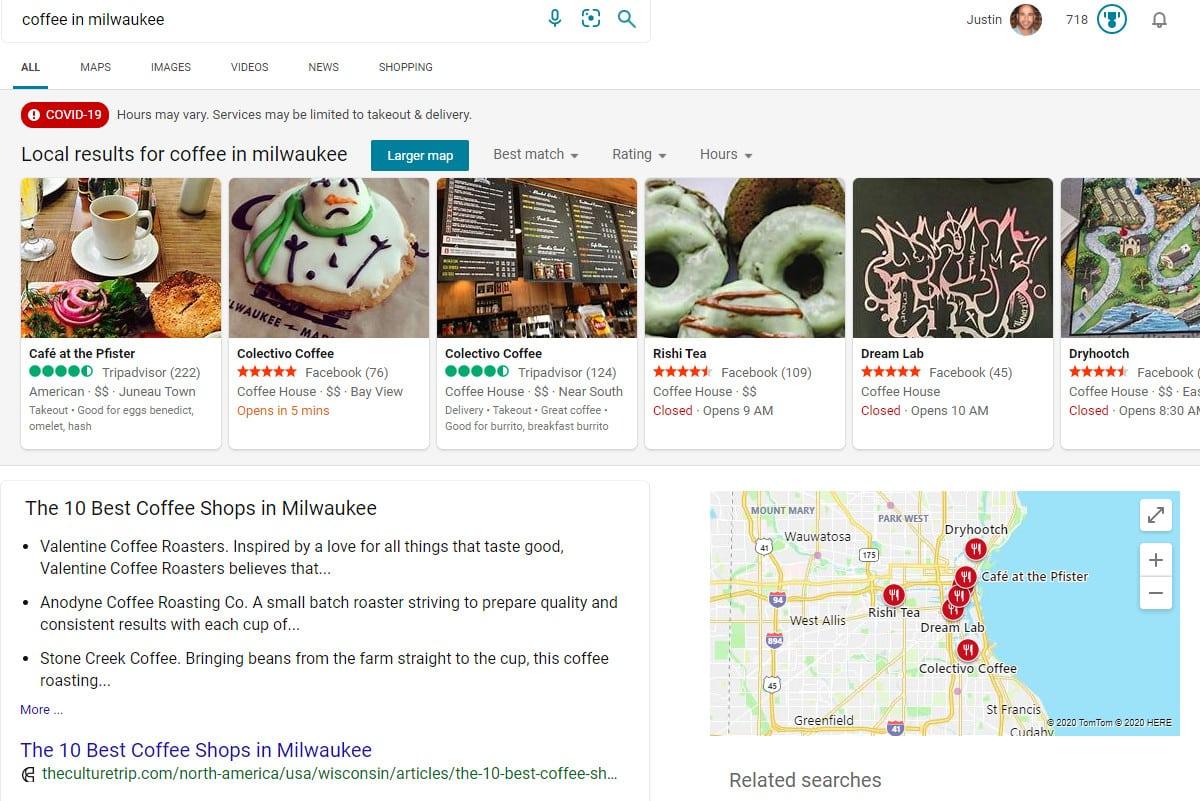 local seo bing search