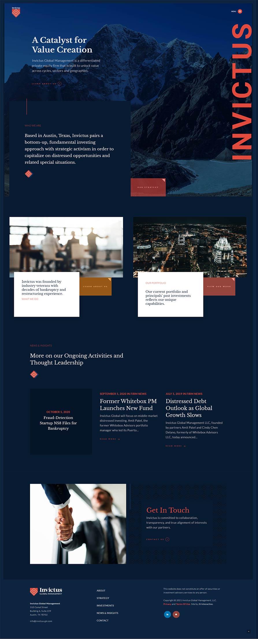 austin private equity web design