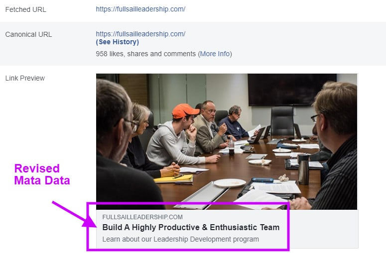 facebook debugger scraper